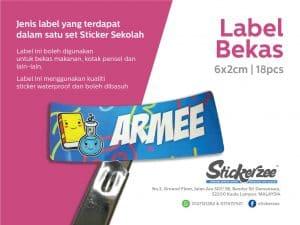 Sticker Bekas