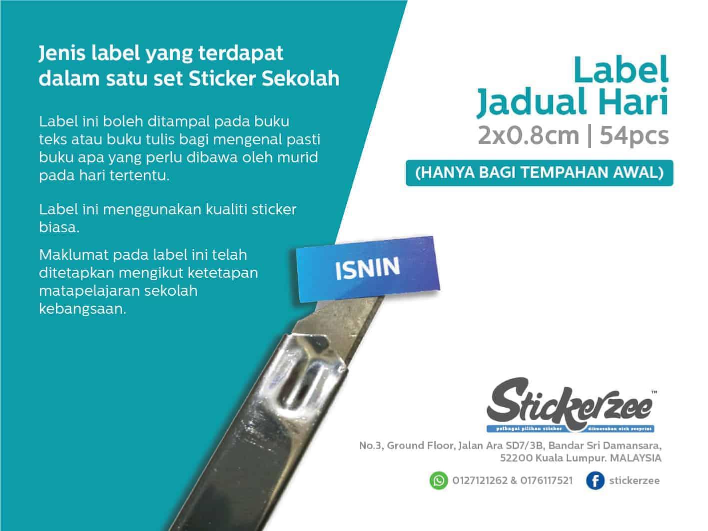 Sticker Jadual