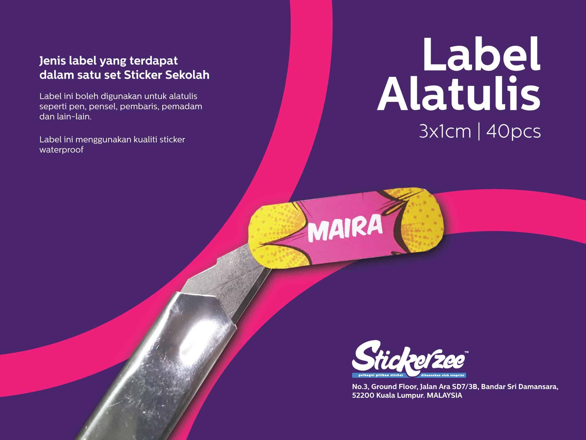 Sticker Sekolah - Label Alatulis