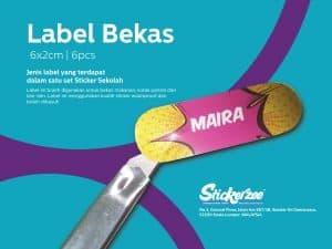 Sticker Sekolah - Label Bekas