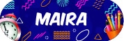 Sticker Sekolah 2019 - Maira