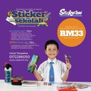 Sticker Sekolah Set Utama