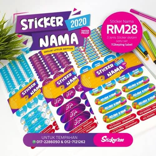 Pakej Sticker Nama