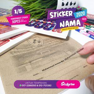 Sticker Nama Transparent