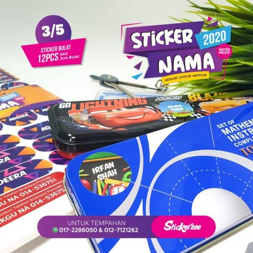 Sticker Nama Bulat