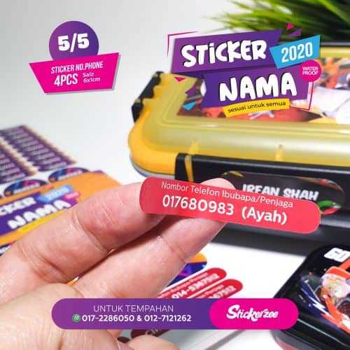 Sticker Nama Ibubapa