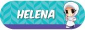 Sticker Nama Tema Helena