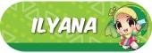 Sticker Nama Tema Ilyana