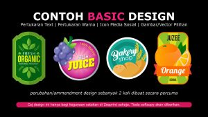 Basic Design Sticker Label