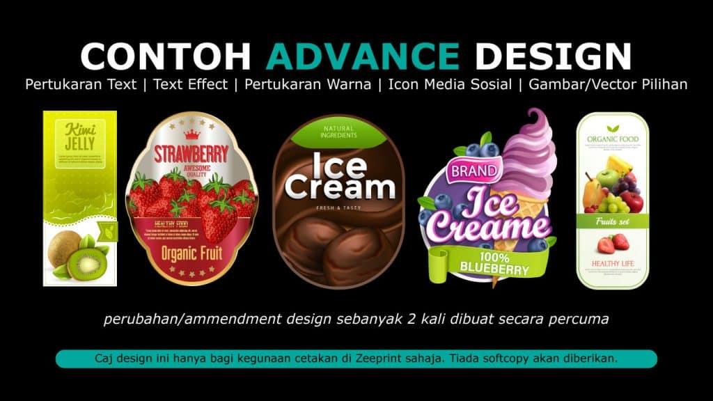 Advance Design Sticker Label