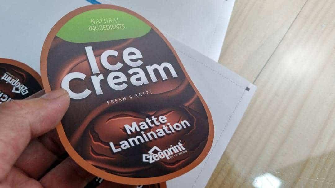 Matte Lamination Sticker Label